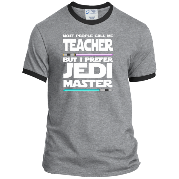 Most People Call Me Teacher But I Prefer Jedi Master Ringer Tee - TeachersLoungeShop - 2