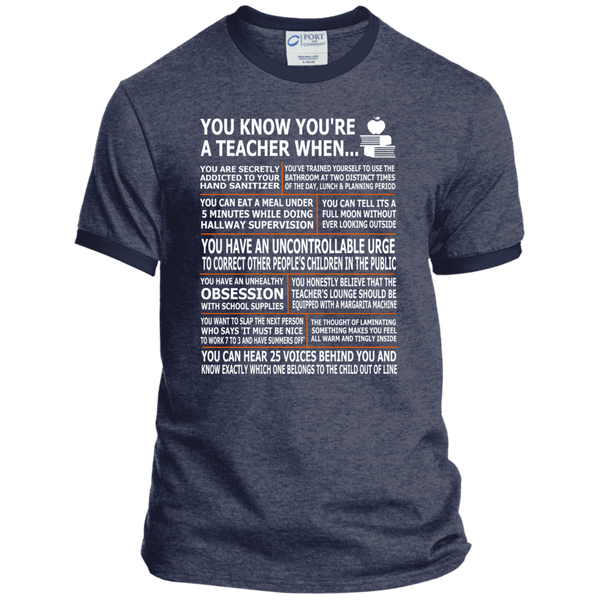 You Know You're a Teacher When Ringer Tee - TeachersLoungeShop - 5