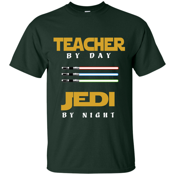 Teacher by Day Jedi by Night Cotton T-Shirt - TeachersLoungeShop - 2