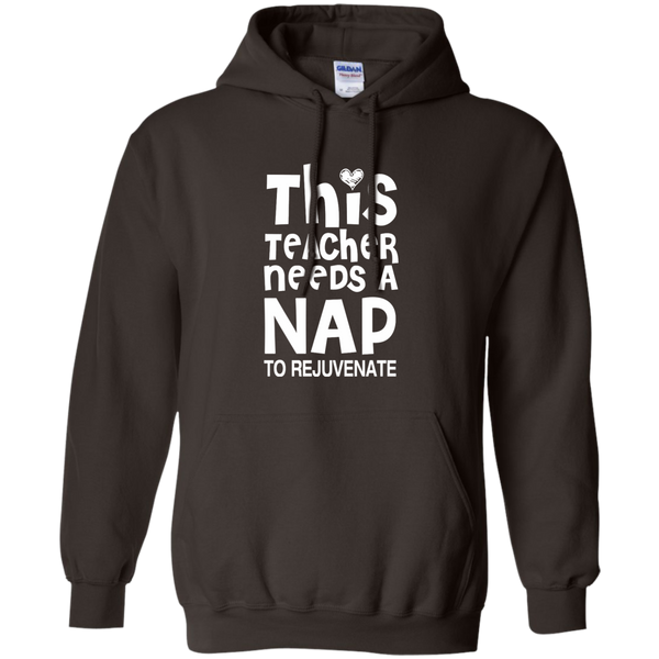 This Teacher Needs a Nap to Rejuvenate Pullover Hoodie 8 oz - TeachersLoungeShop - 5