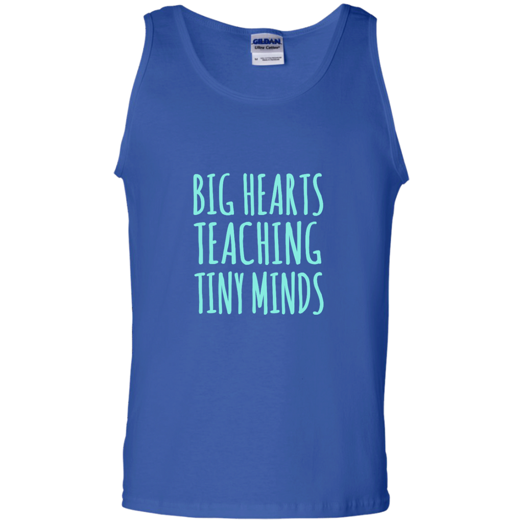Big Hearts Teaching Tiny Minds 100% Cotton Tank Top - TeachersLoungeShop - 1