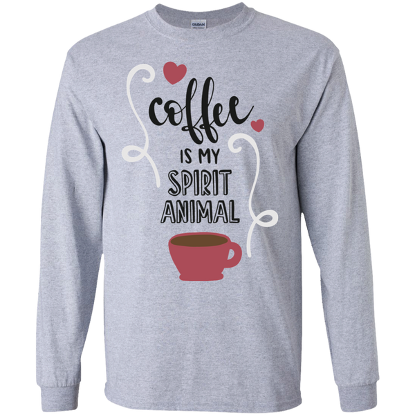 Coffee is my spirit animal  LS Tshirt