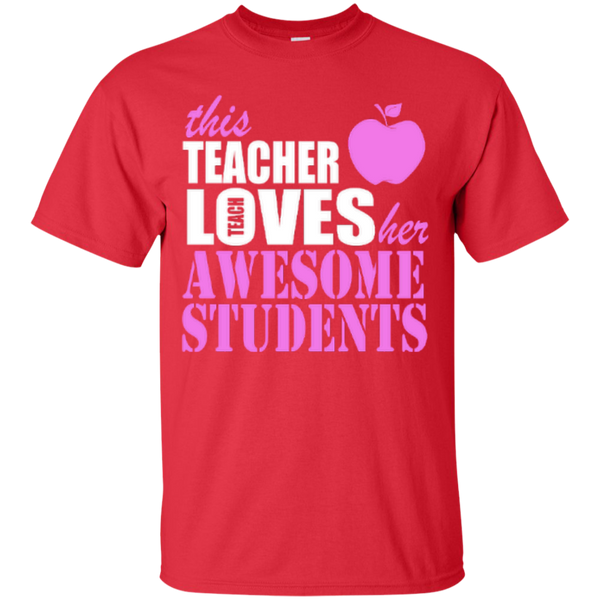 This Teacher Loves her Awesome Students T-shirt Hoodies - TeachersLoungeShop - 4