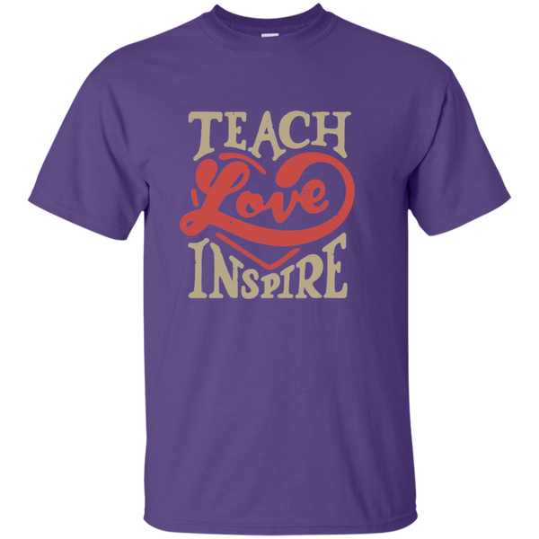 Teach Love Inspire Teacher Cotton T-Shirt - TeachersLoungeShop - 10