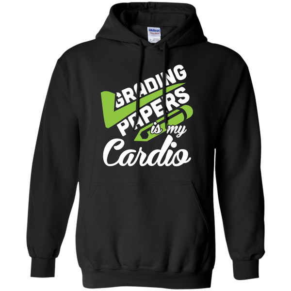 Grading papers is my cardio   Hoodie 8 oz - TeachersLoungeShop - 1