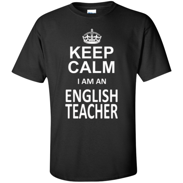 Keep Calm i'm an English Teacher T-shirt Hoodie - TeachersLoungeShop - 1