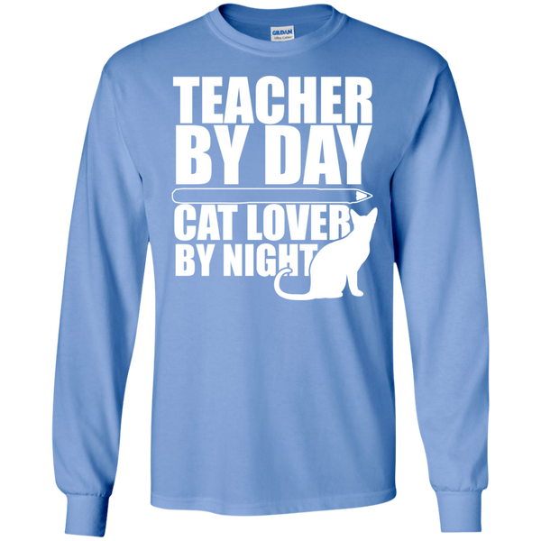 Teacher by Day Cat Lover by Night Ultra Cotton Tshirt - TeachersLoungeShop - 5