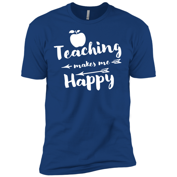 Teaching makes me Happy    Level Premium Short Sleeve Tee - TeachersLoungeShop - 10