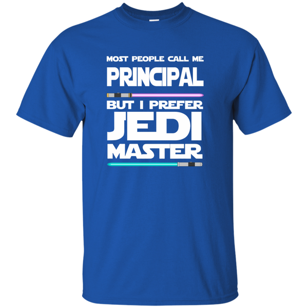 Most People Call Me Principal But I Prefer Jedi Master Cotton T-Shirt - TeachersLoungeShop - 9