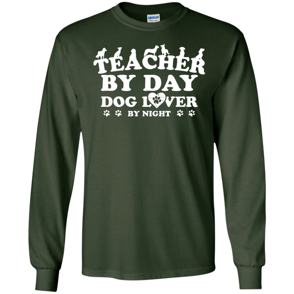 Teacher By Day Dog Lover by Night LS Ultra Cotton Tshirt - TeachersLoungeShop - 3