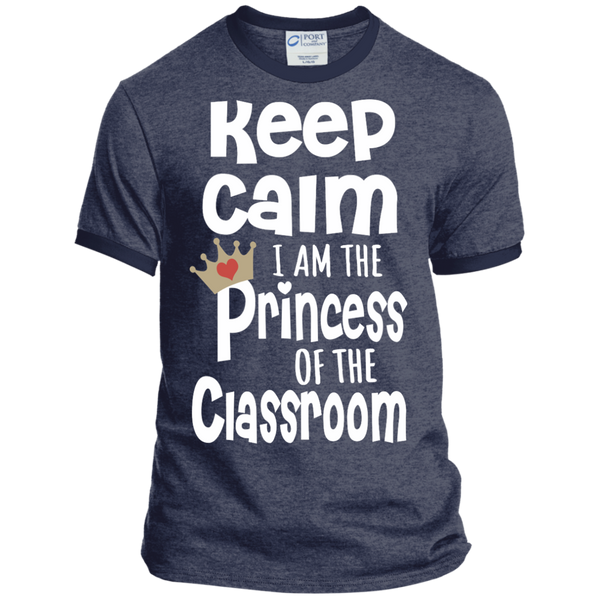 Keep Calm I am the Princess of the Classroom Ringer Tee - TeachersLoungeShop - 5