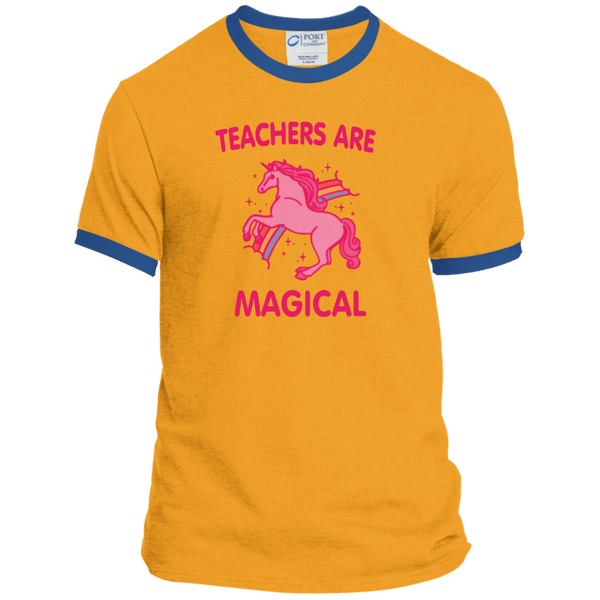 Teachers are Magical Ringer Tee - TeachersLoungeShop - 5