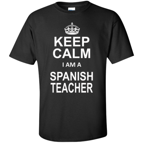 Keep Calm i'm a Spanish Teacher T-shirt Hoodie - TeachersLoungeShop - 1
