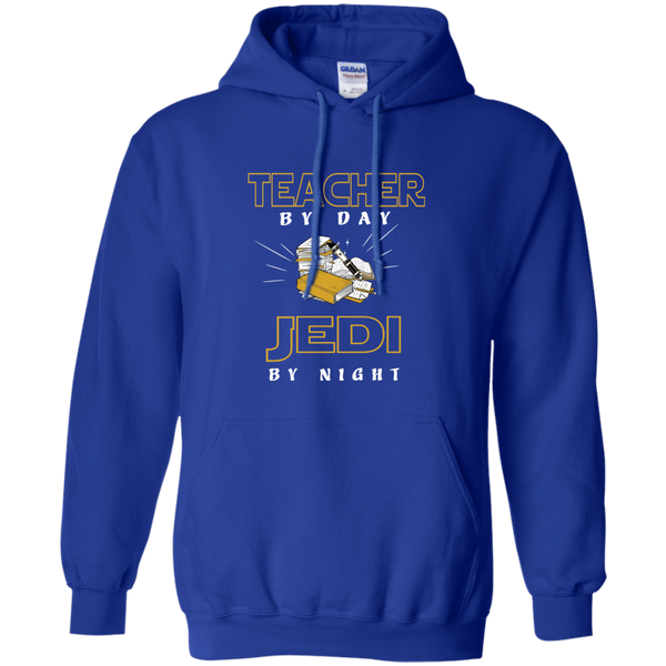 Teacher By Day Jedi By Night Ver2 Pullover Hoodie 8 oz - TeachersLoungeShop - 12
