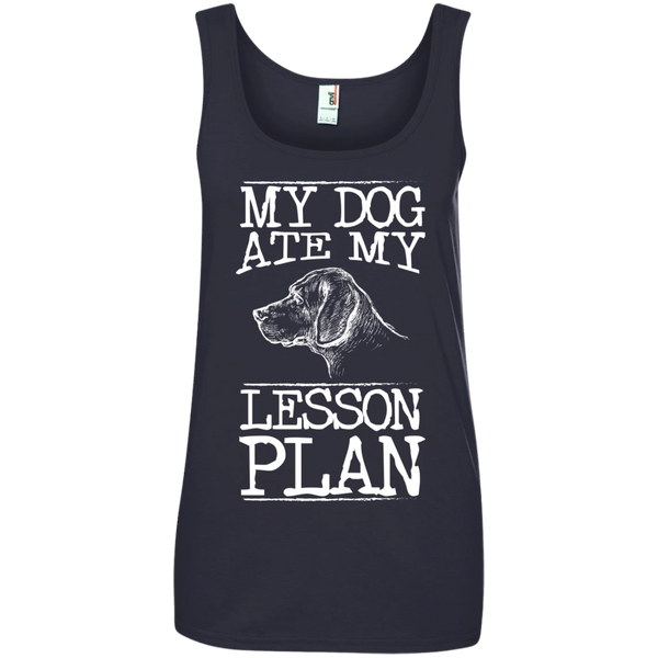 My Dog Ate my Lesson Plan  Ladies  100% Ringspun Cotton Tank Top - TeachersLoungeShop - 4