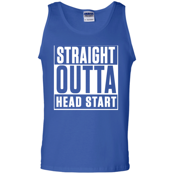 Straight Outta Head Start  Cotton Tank Top - TeachersLoungeShop - 4