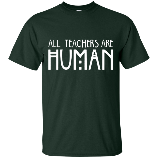 All Teachers Are Human Cotton T-Shirt - TeachersLoungeShop - 9