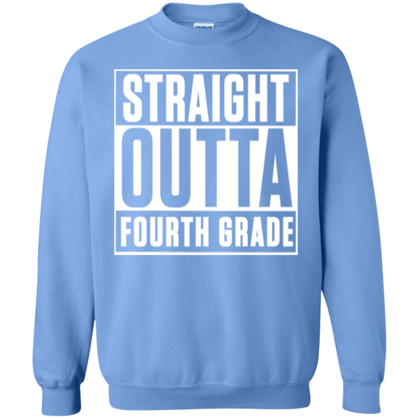 Straight Outta Fourth Grade  Crewneck Pullover Sweatshirt  8 oz - TeachersLoungeShop - 10