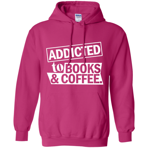 Addicted to Books and Coffee Pullover Hoodie 8 oz - TeachersLoungeShop - 6
