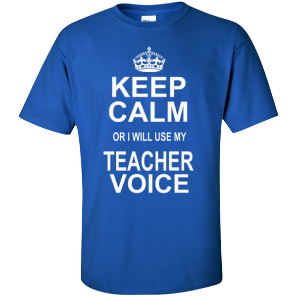 Keep Calm or i will use my Teacher Voice T-shirt Hoodie - TeachersLoungeShop - 2