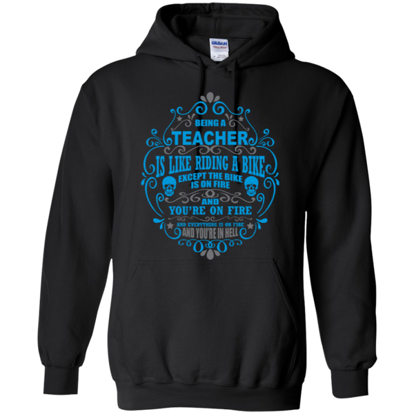 Being a Teacher is like Riding a Bike Teacher T-shirt Hoodie - TeachersLoungeShop - 8