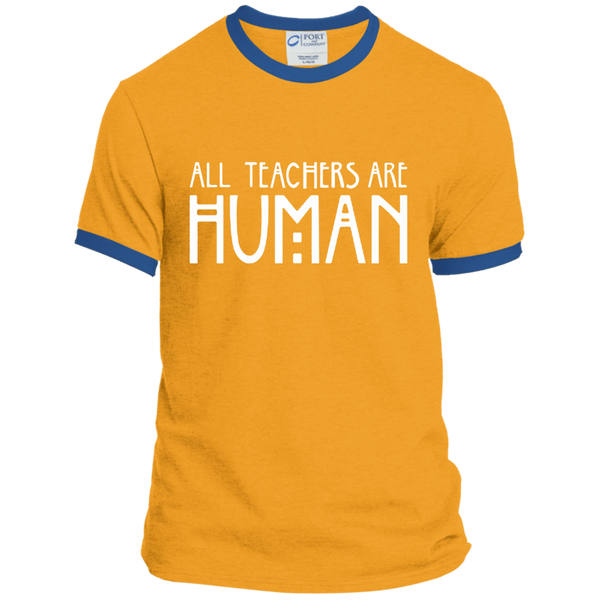 All Teachers Are Human Ringer Tee - TeachersLoungeShop - 4