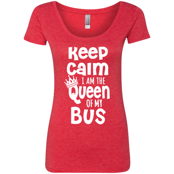 Keep Calm I am the Queen of My Bus Next Level Ladies Triblend Scoop - TeachersLoungeShop - 3