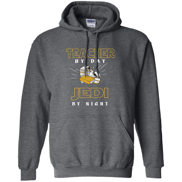 Teacher By Day Jedi By Night Ver2 Pullover Hoodie 8 oz - TeachersLoungeShop - 3