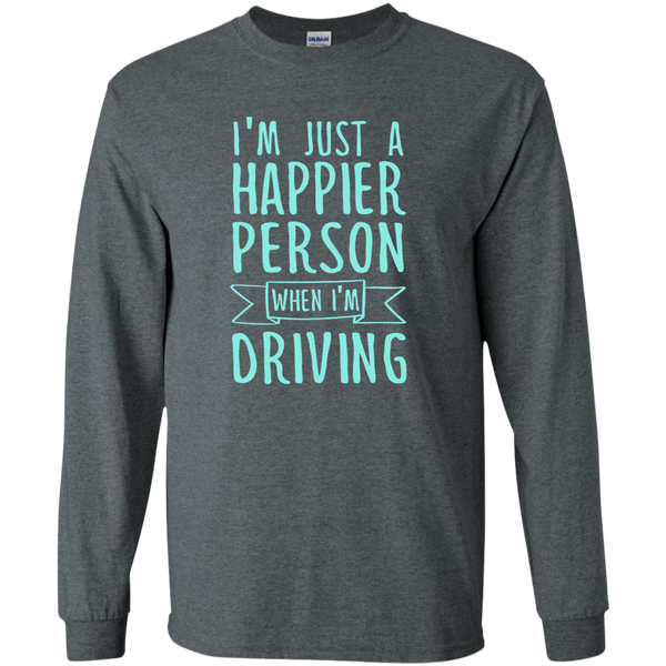 I'm Just a Happier Person When I'm Driving LS Ultra Cotton Tshirt - TeachersLoungeShop - 6