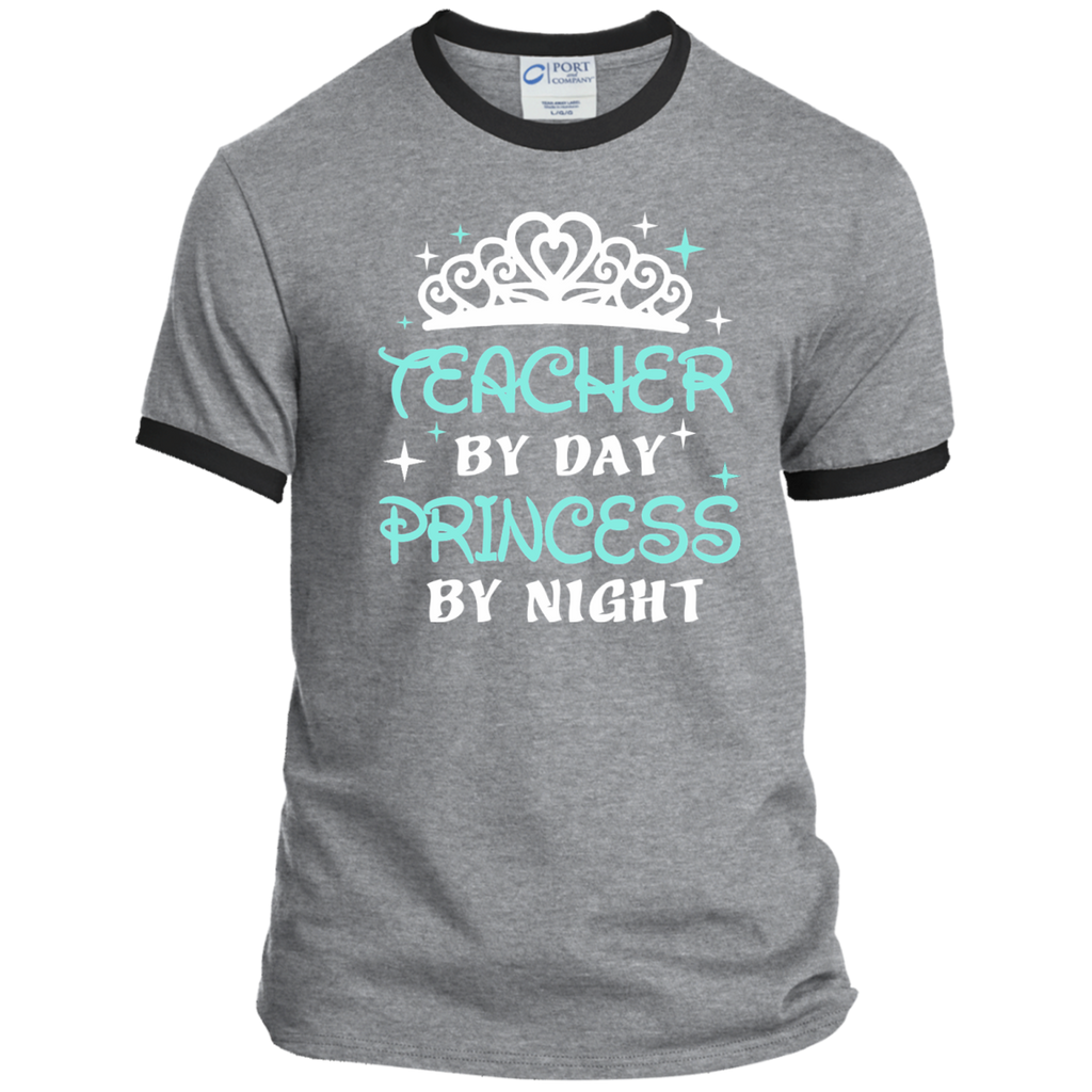 Teacher By Day Princess By Night ver2 Ringer Tee - TeachersLoungeShop - 2