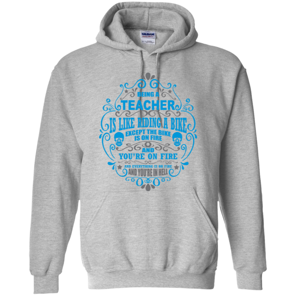 Being a Teacher is like Riding a Bike Teacher T-shirt Hoodie - TeachersLoungeShop - 7