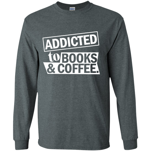 Addicted to Books and Coffee LS Ultra Cotton Tshirt - TeachersLoungeShop - 7