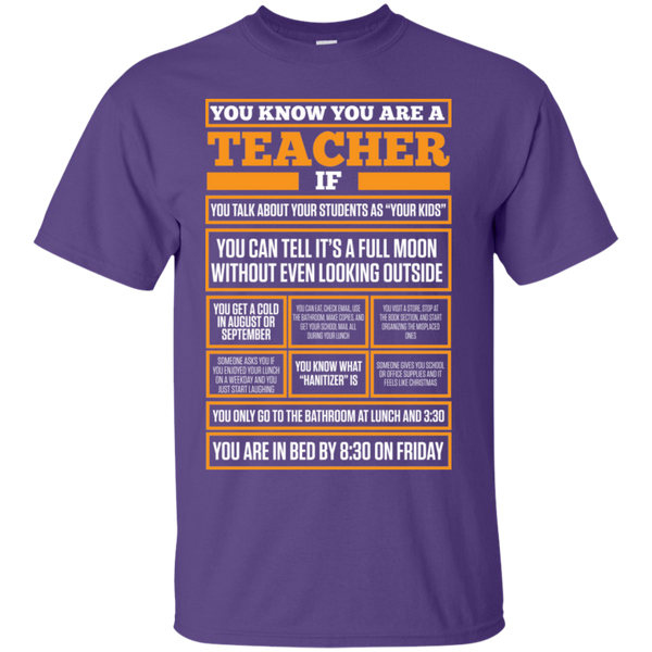 You know You are a Teacher if  T-Shirt - TeachersLoungeShop - 11