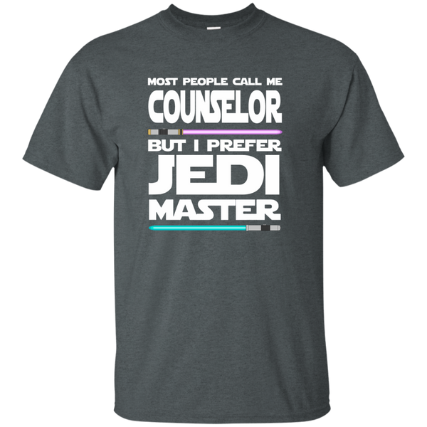 Most People Call Me Counselor But I Prefer Jedi Master Cotton T-Shirt - TeachersLoungeShop - 6