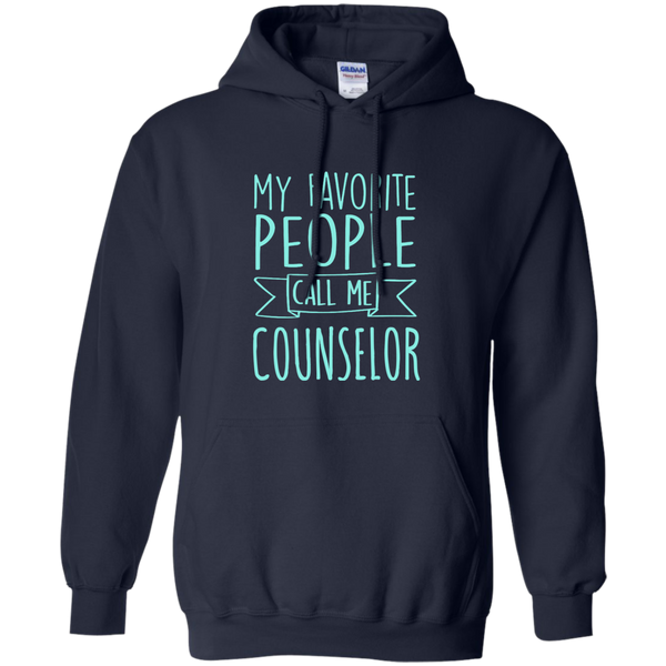 My Favorite People call Me Counselor Pullover Hoodie 8 oz - TeachersLoungeShop - 2