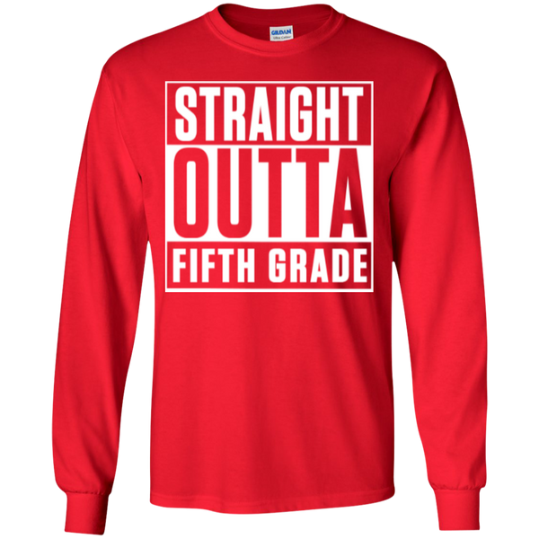 Straight Outta Fifth Grade LS  Cotton Tshirt - TeachersLoungeShop - 4