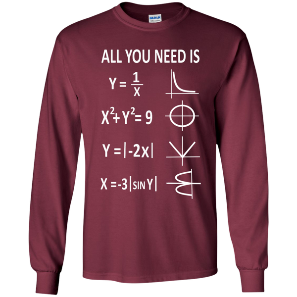 All You Need is Love LS Ultra Cotton Tshirt - TeachersLoungeShop - 7