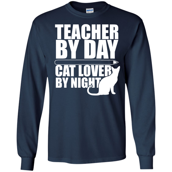 Teacher by Day Cat Lover by Night Ultra Cotton Tshirt - TeachersLoungeShop - 10
