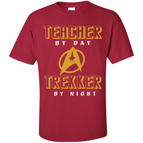 Teacher By Day Trekker By Night Cotton T-Shirt - TeachersLoungeShop - 4