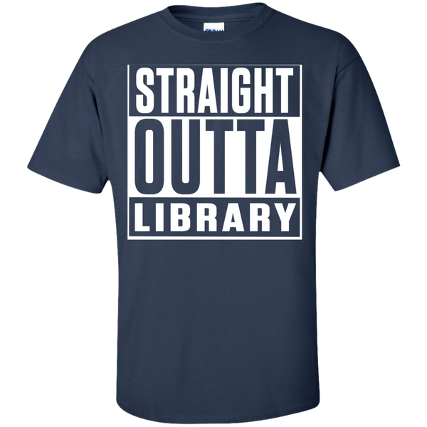 Straight Outta Library T-Shirt - TeachersLoungeShop - 3