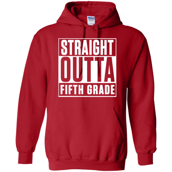 Straight Outta Fifth Grade  Hoodie 8 oz - TeachersLoungeShop - 11