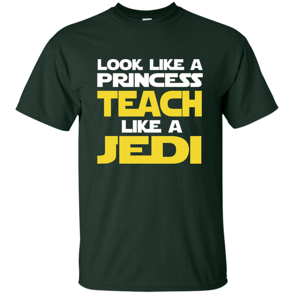 Look Like a Princess Teach Like a Jedi Cotton T-Shirt - TeachersLoungeShop - 2