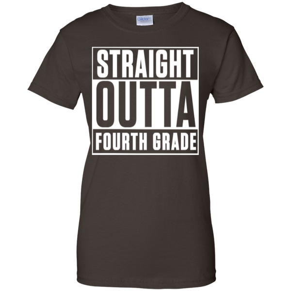 Straight Outta Fourth Grade  100% Cotton T-Shirt - TeachersLoungeShop - 4