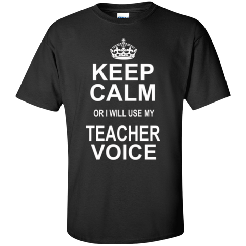 Keep Calm or i will use my Teacher Voice T-shirt Hoodie - TeachersLoungeShop - 1