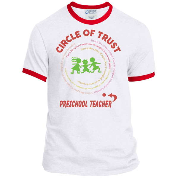 Preschool Teacher Circle of Trust Ringer Tee - TeachersLoungeShop - 3