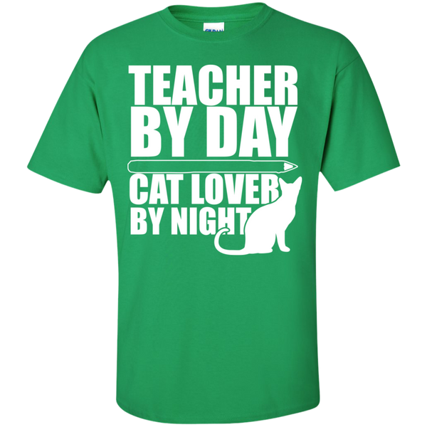 Teacher by Day Cat Lover by Night  T-Shirt - TeachersLoungeShop - 8