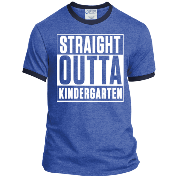Straight Outta Kindergarten   Ringer Tee - TeachersLoungeShop - 5