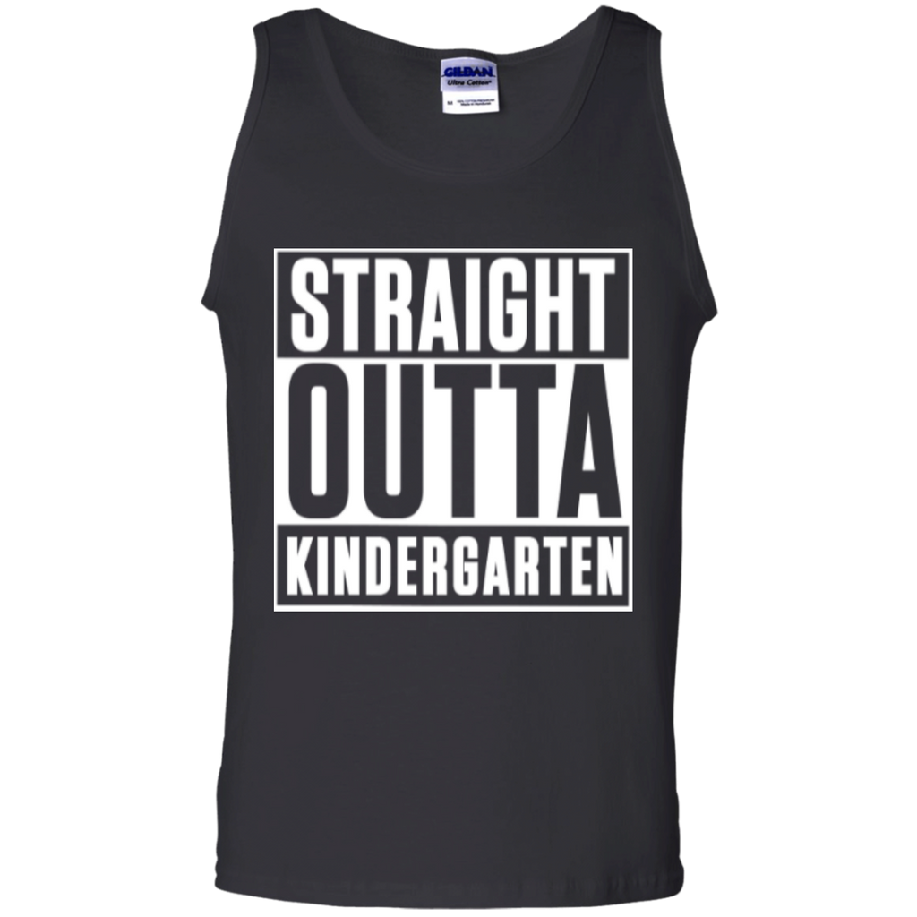 Straight Outta Kindergarten   100% Cotton Tank Top - TeachersLoungeShop - 1