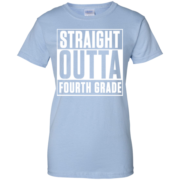 Straight Outta Fourth Grade  100% Cotton T-Shirt - TeachersLoungeShop - 10