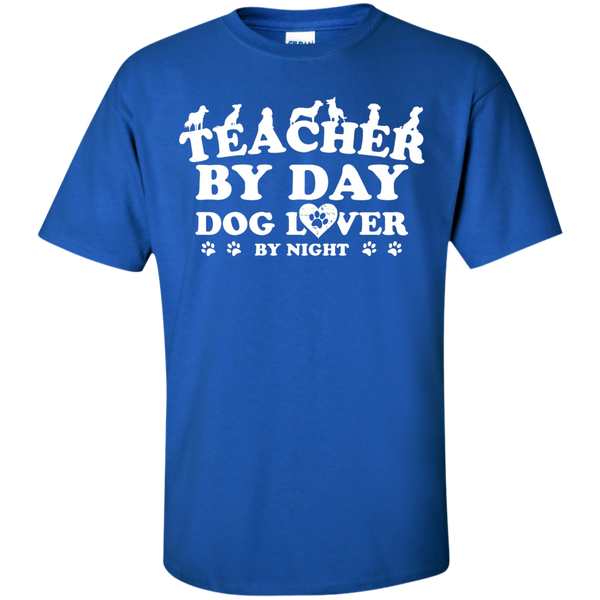 Teacher By Day Dog Lover by Night T-Shirt - TeachersLoungeShop - 5